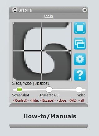 Grabilla Screenshot 1.25 screenshot