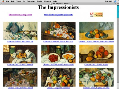 Great Works of Art/The Impressionists 1.0 screenshot