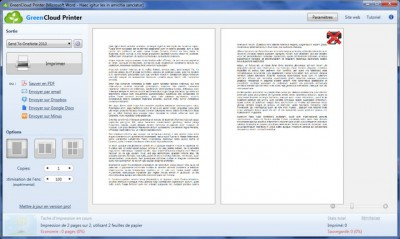 GreenCloud Printer - Green PDF Creator 7.8.4.0 screenshot
