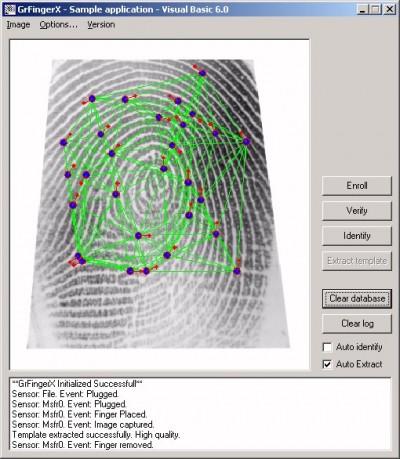 GrFinger Biometric SDK Trial 4.2 screenshot