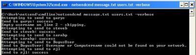 Group Net Send 1.01 screenshot