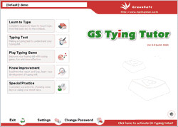 GS Typing Tutor 3.1 screenshot