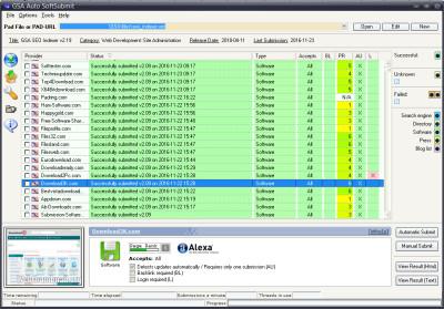 GSA Auto SoftSubmit 8.14 screenshot