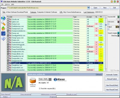 GSA Auto Website Submitter 5.26 screenshot