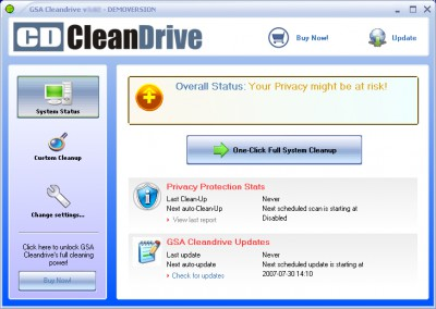 GSA Cleandrive 3.40 screenshot