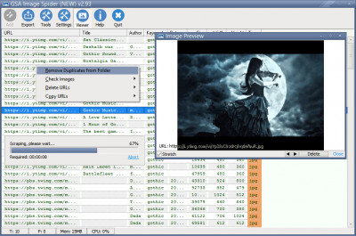 GSA Image Spider 3.54 screenshot