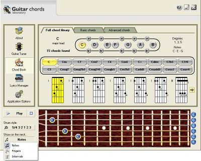 chords on guitar. Guitar chords laboratory 1.53