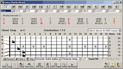 Guitar Chords Library 5.8 screenshot