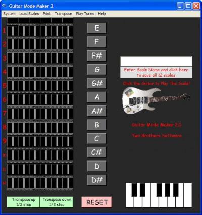Guitar Mode Maker 2 2.07 screenshot