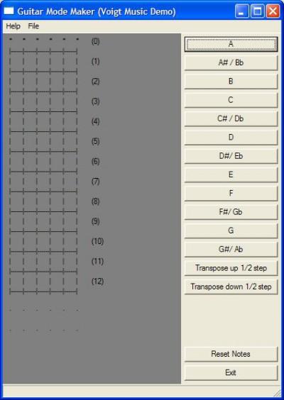 Guitar Mode Maker 1.3 screenshot