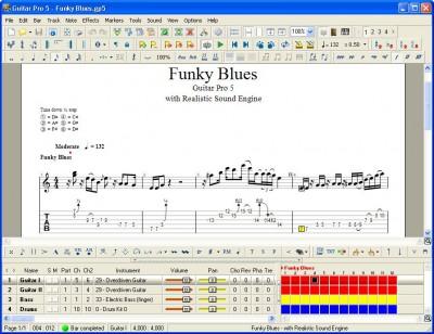 Guitar Pro 5.0 screenshot
