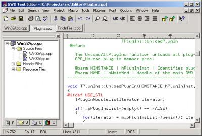 GWD Text Editor 3.2 screenshot