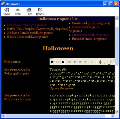 Halloween Ringtone XE 1.0 screenshot