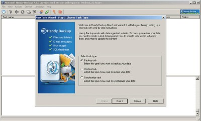 Handy Backup Home Standard 7.8.6 screenshot