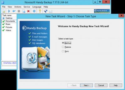 Handy Backup Server Network 7.17.0 screenshot