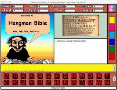 Hangman Bible for the Macintosh 1.0.5 screenshot