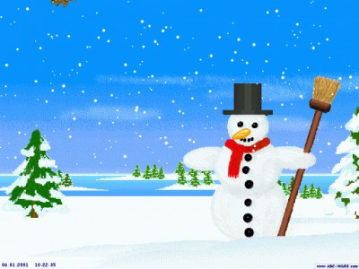 Happy Snowman Screensaver 4.10.0510 screenshot