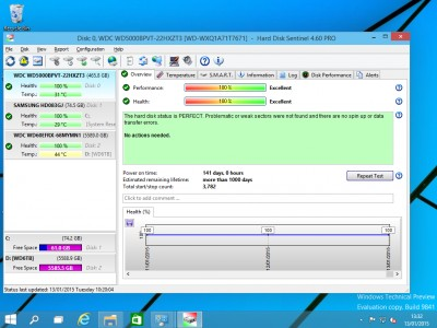 Hard Disk Sentinel 4.10 screenshot
