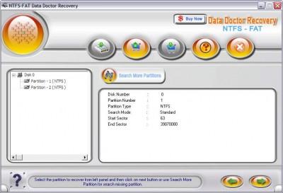 Hard drive data recovery 2.0.1.5 screenshot