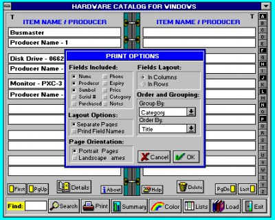 Hardware Catalog 5.1 screenshot