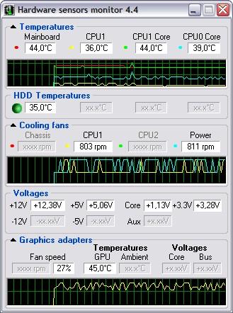 hardware sensors monitor 4.5.4.2 screenshot