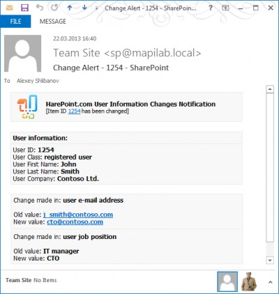 HarePoint Custom Alerts for SharePoint 1.0 screenshot