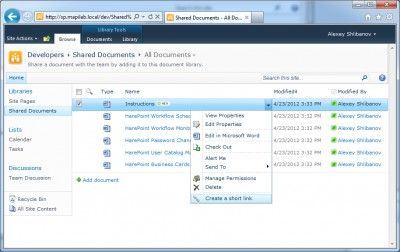 HarePoint Short URL for SharePoint 1.0.490 screenshot