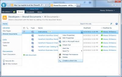 HarePoint Short URL for SharePoint 1.0.490 screenshot