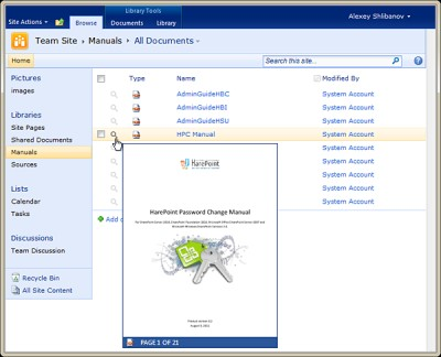 HarePoint Thumbnails for SharePoint 1.0 screenshot