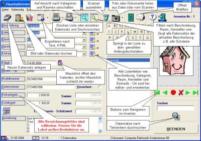Hausrat- und Inventarverwaltung 4.0 screenshot