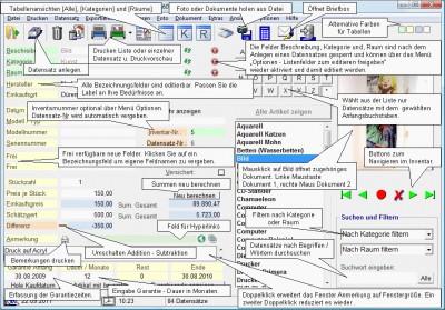 Hausrat- und Inventarverwaltung 7.1.17 screenshot
