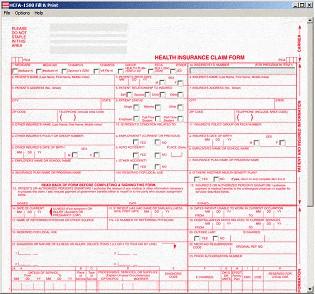 HCFA-1500 Fill & Print 3.2 screenshot