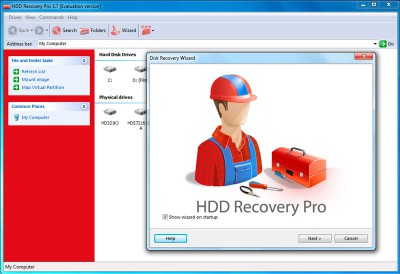 HDD Recovery Pro 2.54 screenshot