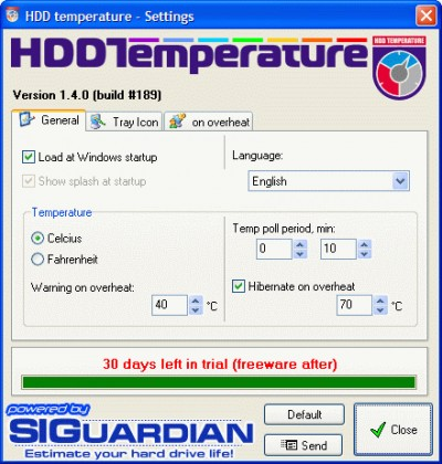 HDD Temperature 1.4.206 screenshot