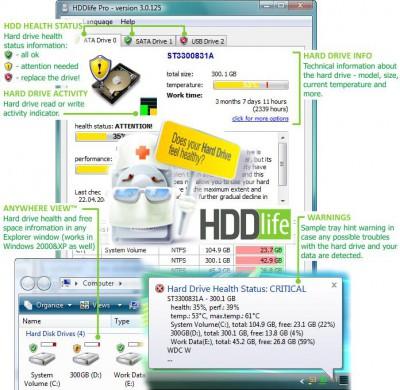 HDDlife Pro 3.1.170 screenshot