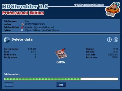 HDShredder Free Edition 4.0.1 screenshot