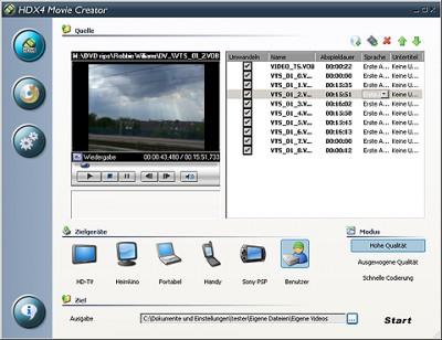 HDX4 Movie Creator 1.6.2.318 screenshot