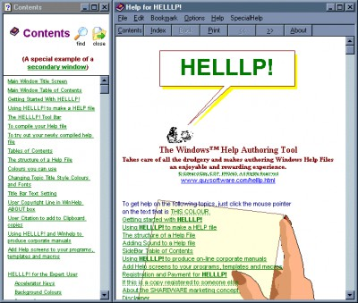 HELLLP! WinHelp Author Tool for WinWord 3.2 screenshot