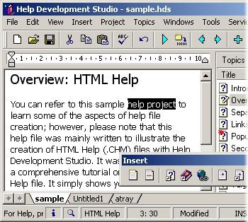Help Development Studio 1.92 screenshot