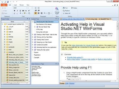 Help Editor 6.0 screenshot