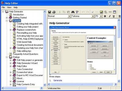 Help Generator for Visual Studio 2005 4.0 screenshot