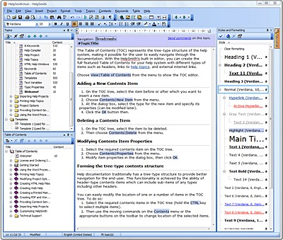 HelpSmith 8.3.0.6 screenshot