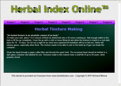 Herbal Index Online eBook 6.0 screenshot
