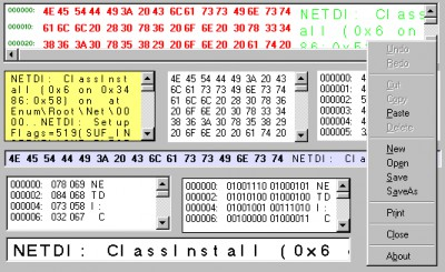 Hex Editor ActiveX Control 1.1 screenshot