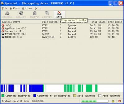 Hexprobe Disk Encryption Tool 3.02 screenshot
