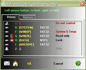 Hide & Protect any Drives 3.06 screenshot