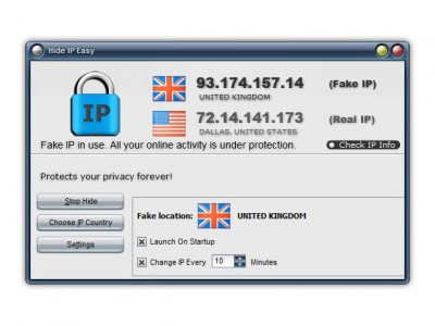 Hide IP Easy 5.5.7.8 screenshot