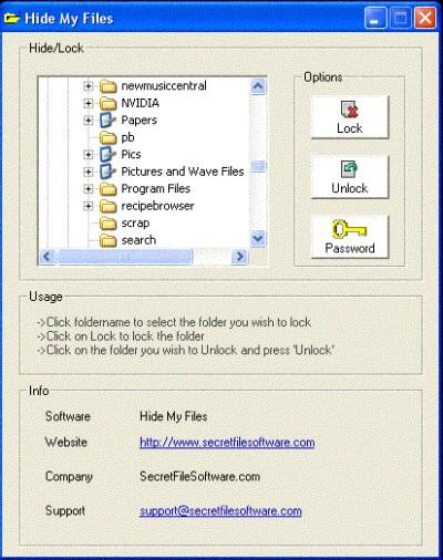Hide My Files 1.0.6 screenshot