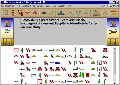 HieroNote 3.0 screenshot