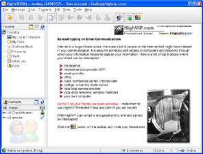 HighVIP Protected Email 2.7.2 screenshot
